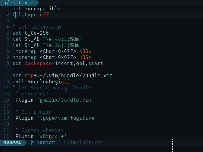 neovim text editor screenshot