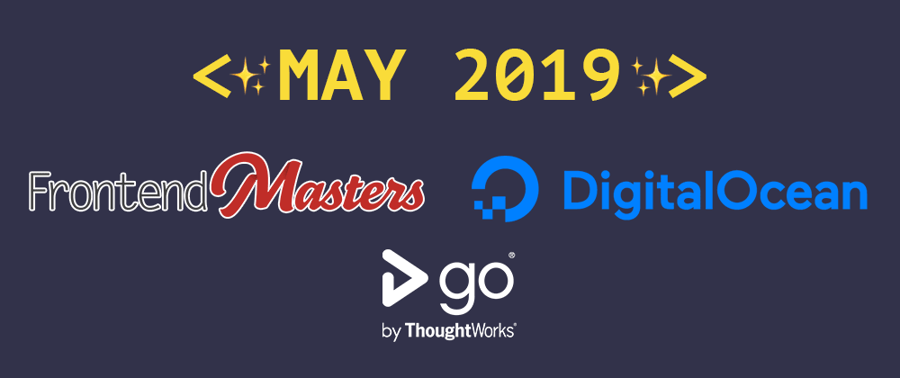 Cover image for Introducing our May 2019 sponsors