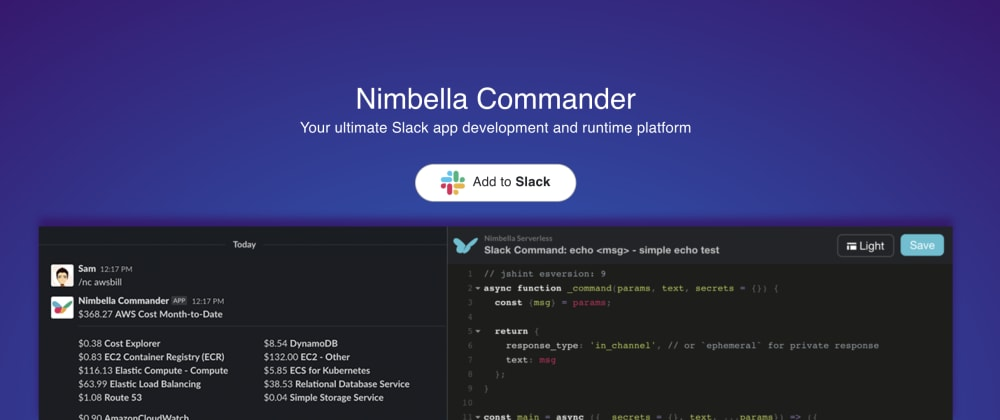 Cover image for Get your DigitalOcean Billing Info in Slack with Nimbella Commander