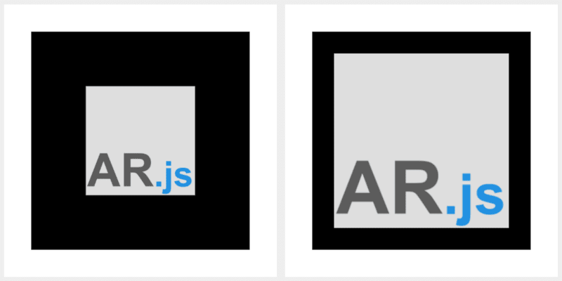 Difference in border thickness for AR.js markers