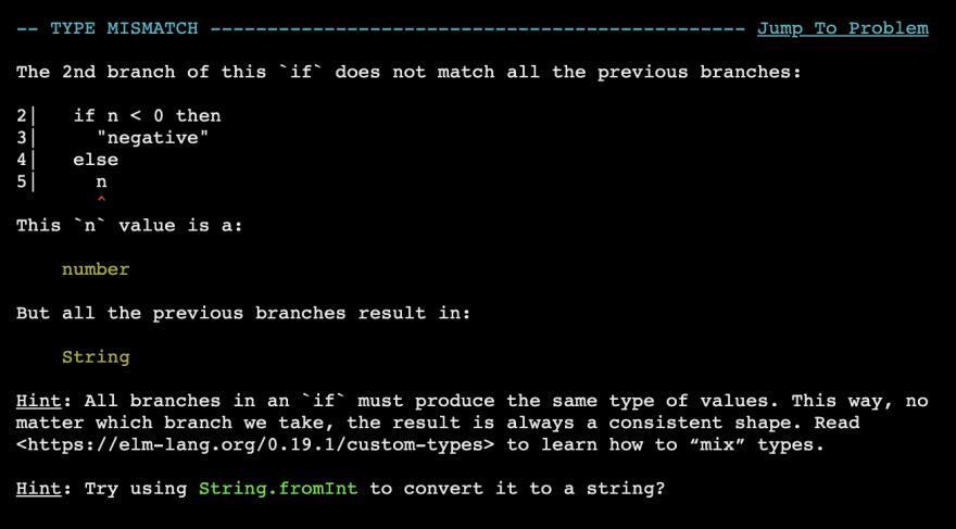 An Elm Compiler Error