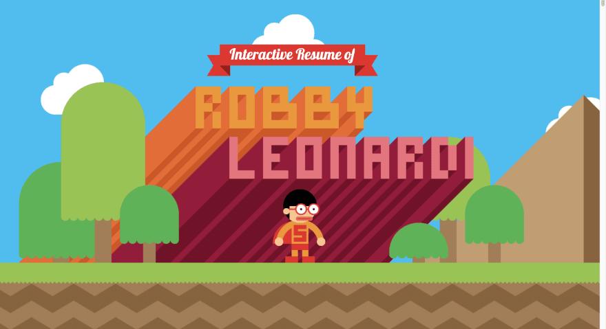 Интерактивное резюме Робби