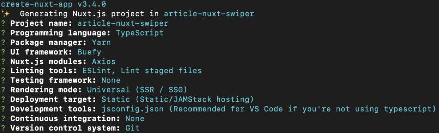 Nuxt CLI options