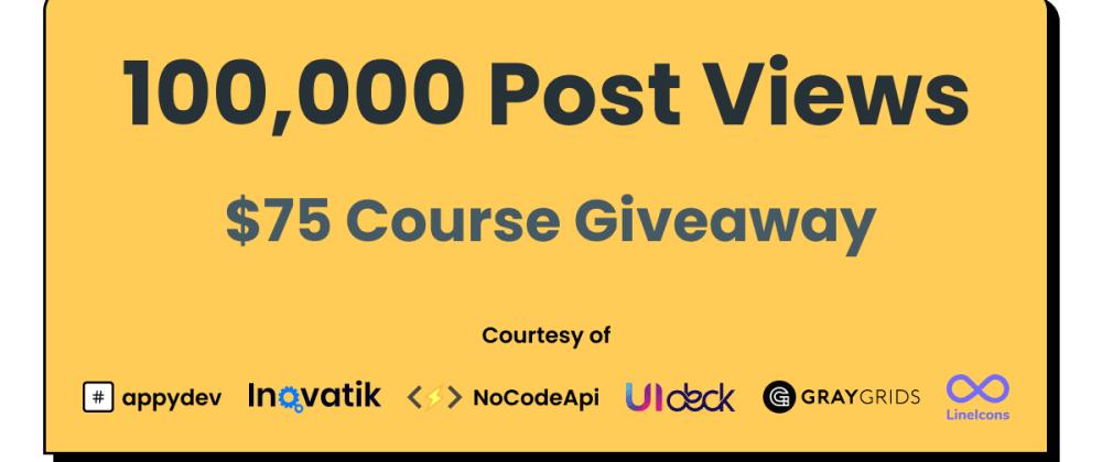 100,000 post views on dev.to