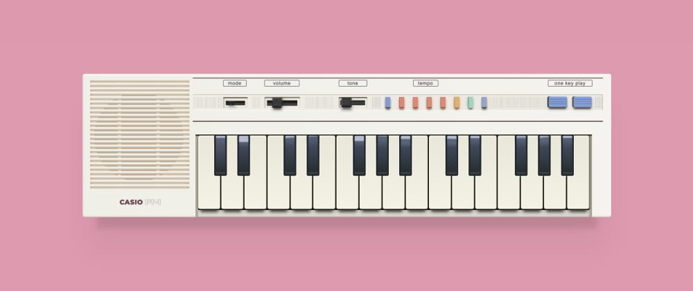 Cover image for 🎹🎶 I drew a vintage keyboard using only HTML & CSS