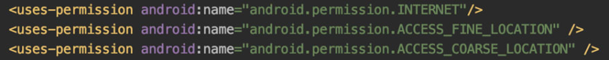 Add these lines of code in android/app/src/main/AndroidManifest.xml