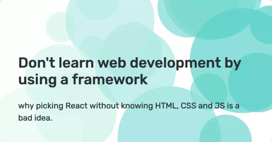 Beginners Shouldn't Learn React