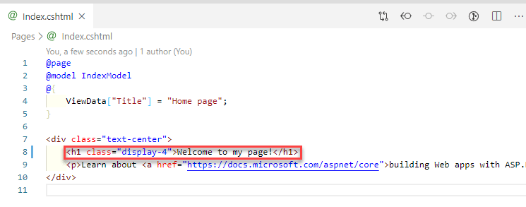 index page edit