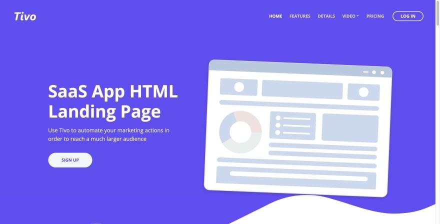 Tivo HTML Template