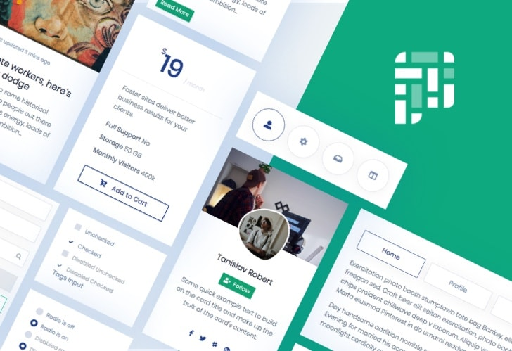 Pixel Lite Bootstrap UI Kit