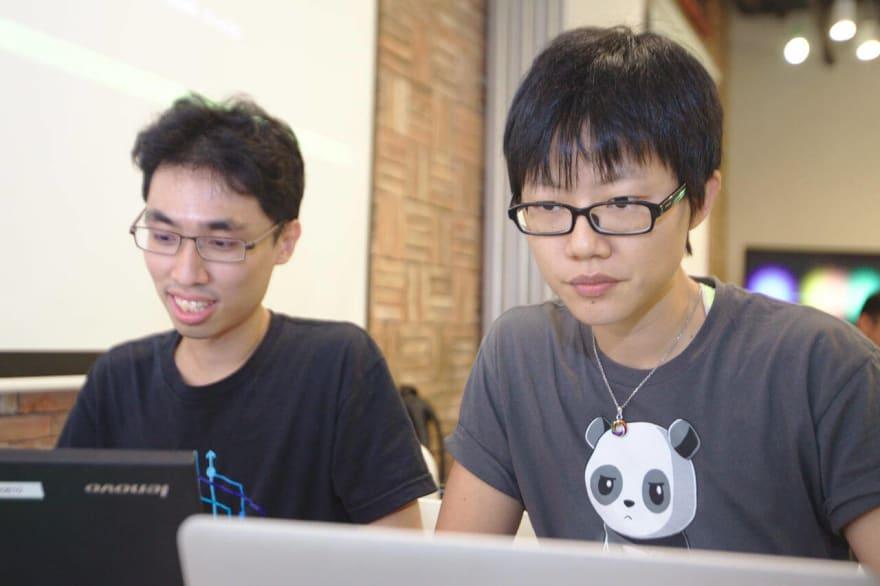 Kheng Meng and I at Super Silly Hackathon 2017