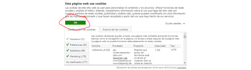 cookies aceptas