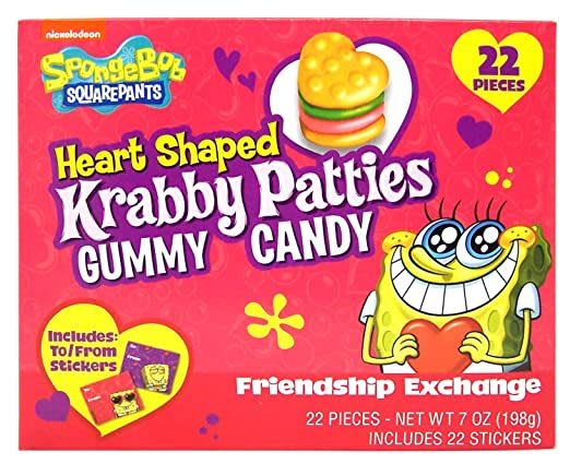 gummy heart Krabby Pattys!