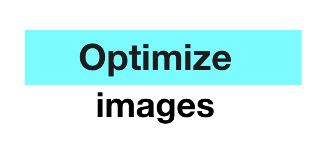 Optimize images for website