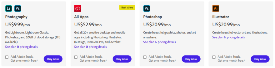 Adobe Pricing