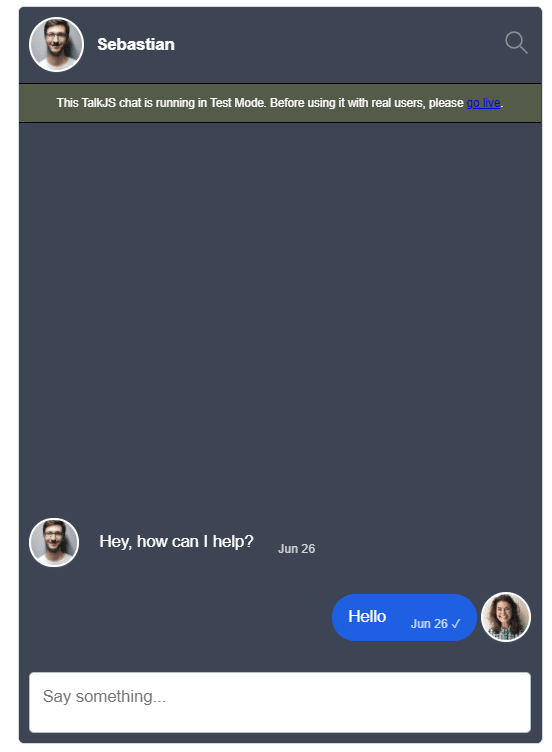 Image showing chat inbox