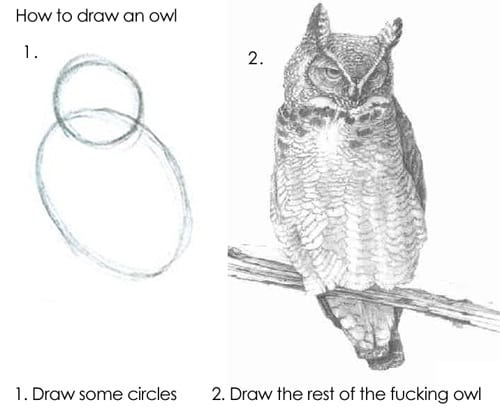 Draw the rest of the owl