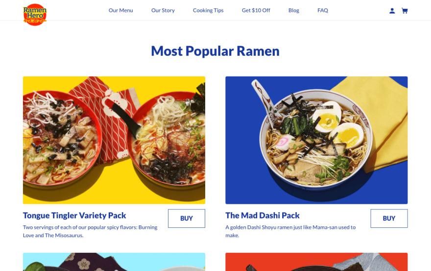 Ramen Hero online store