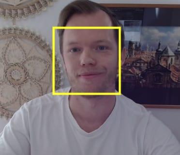 Detected face in JavaScript