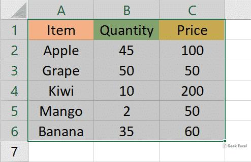 Input Range