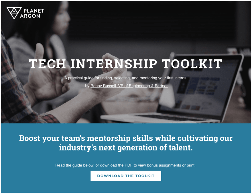 Go download our tech internship toolkit—it's free!