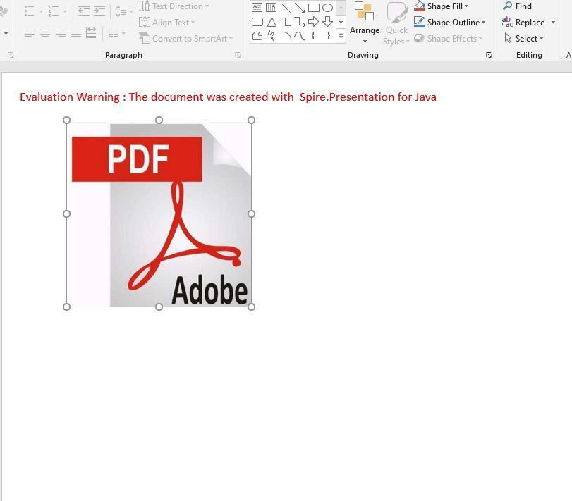 Embed PDF as OLE object