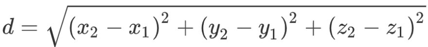 Image of the 3D distance formula