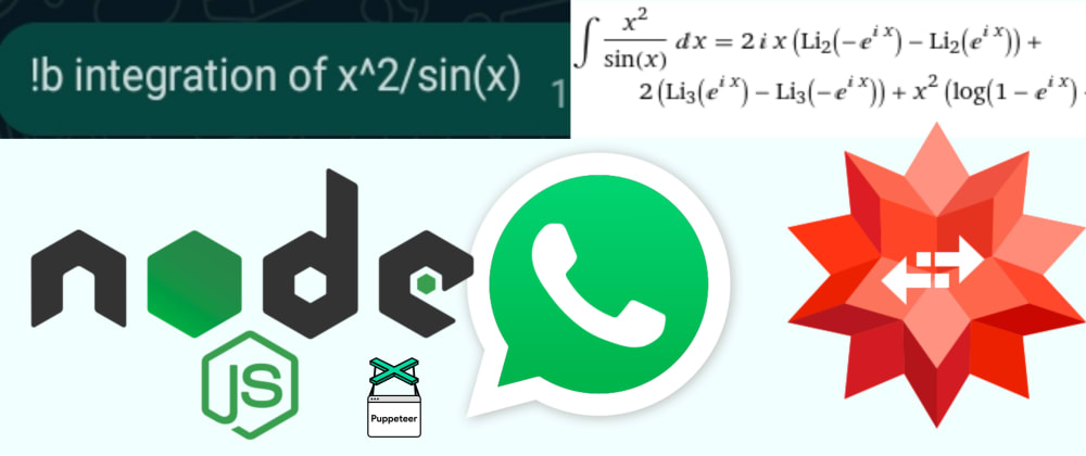 Cover Image for I made a WhatsApp bot to solve Math problems