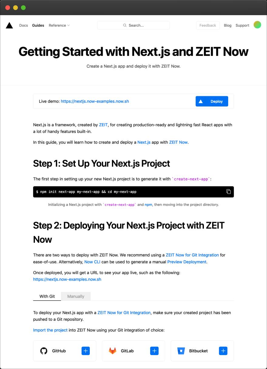 ZEIT – quickstart guide