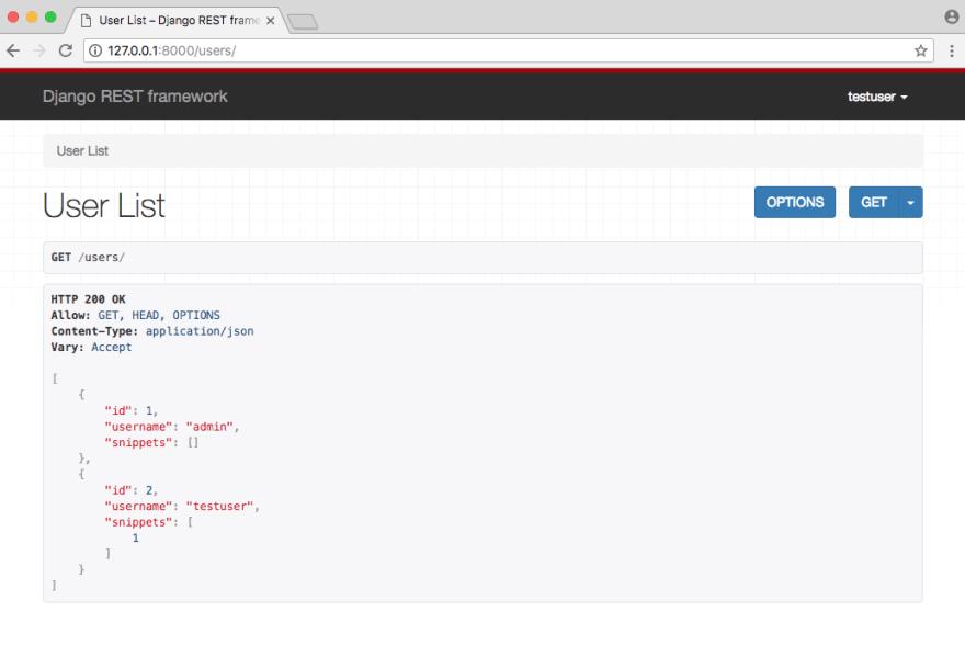 API Users List