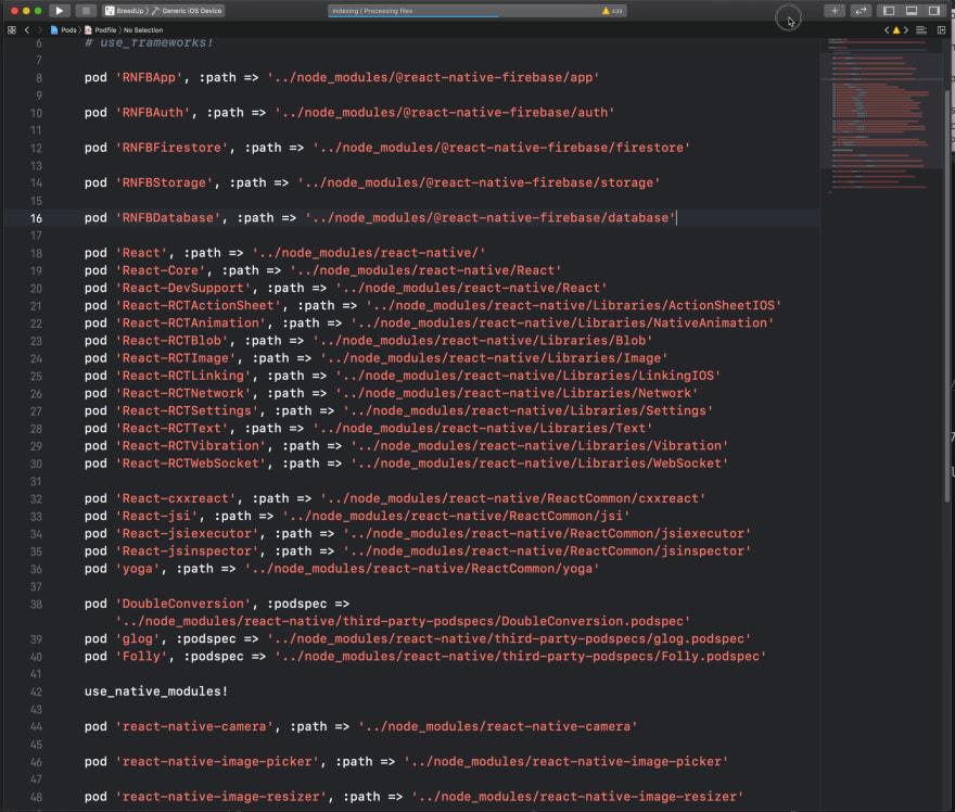 🔢  ❌  Fixing Podfile
