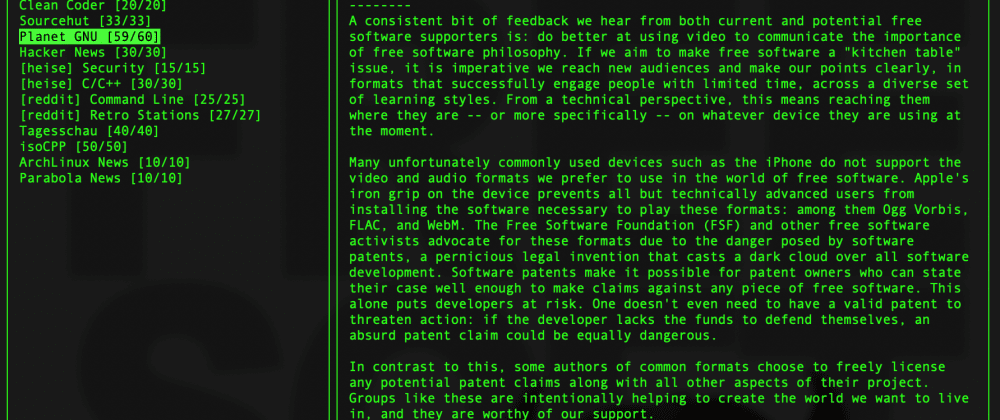 Cover image for neix - a news reader for your terminal.