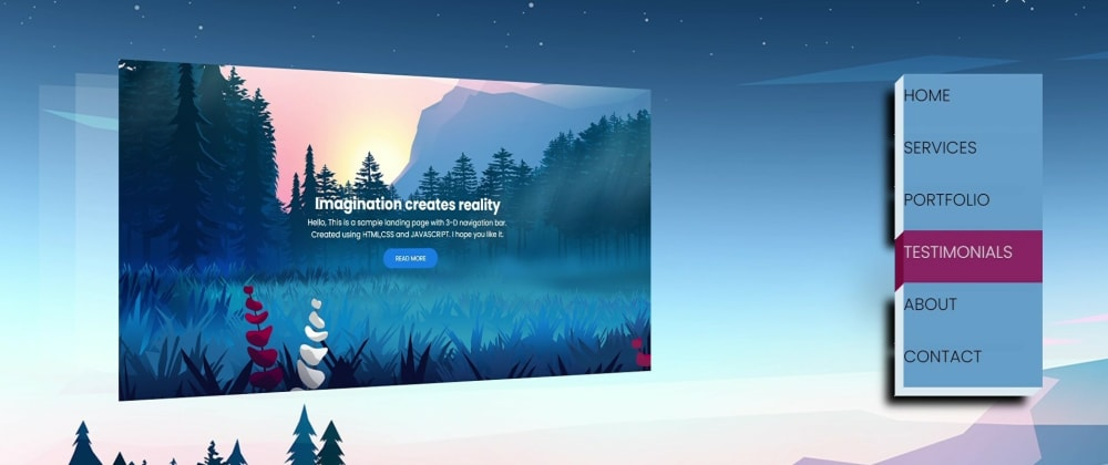 Cover image for Create LANDING PAGE with 3-D Effect