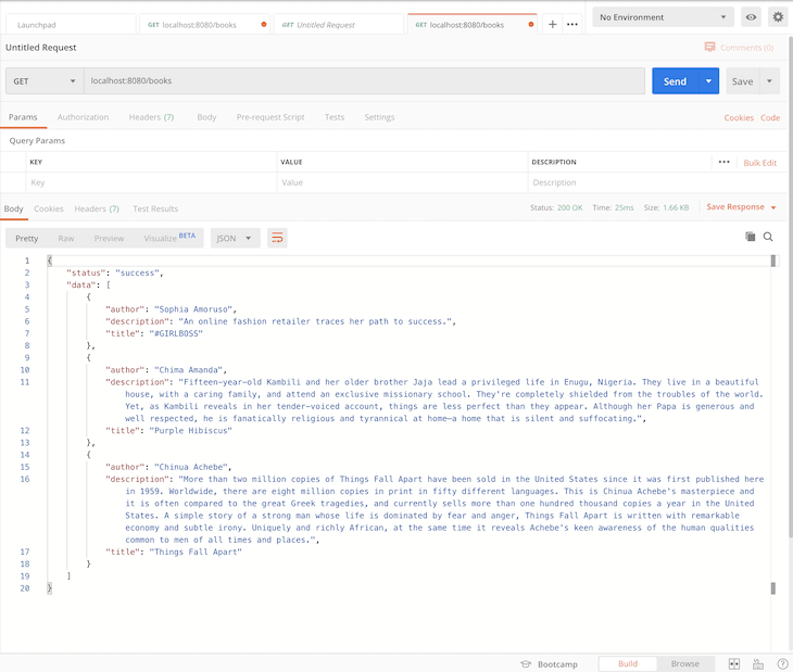 Testing Our API