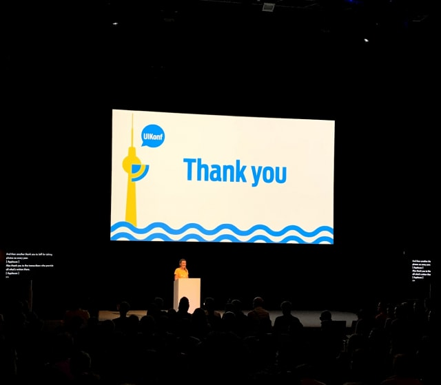 Last thank you slide in the UIKonf