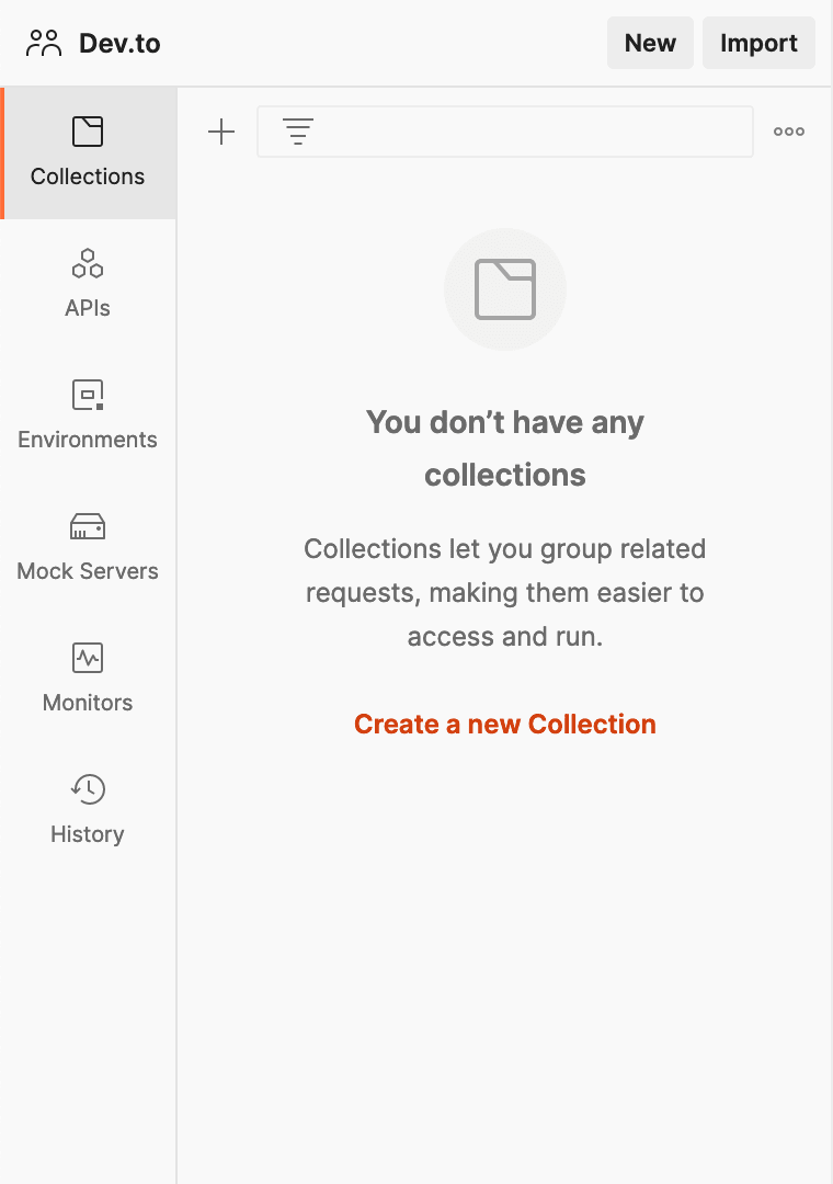 Create a collection