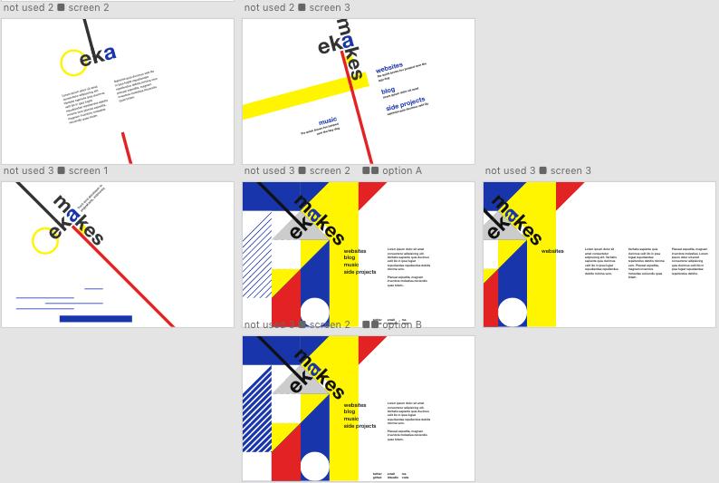 garish landing page design contenders