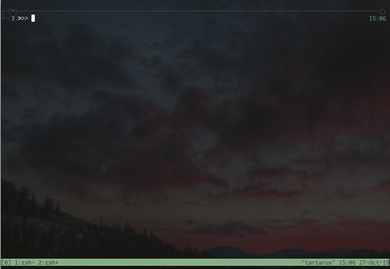 tmux with two windows