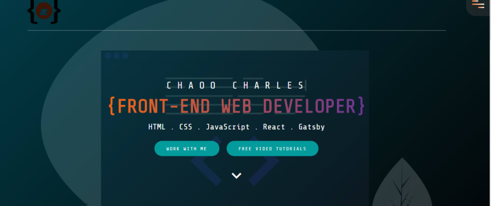 Cover image for I Created a Responsive Portfolio Website Using Pure HTML, CSS and JavaScript