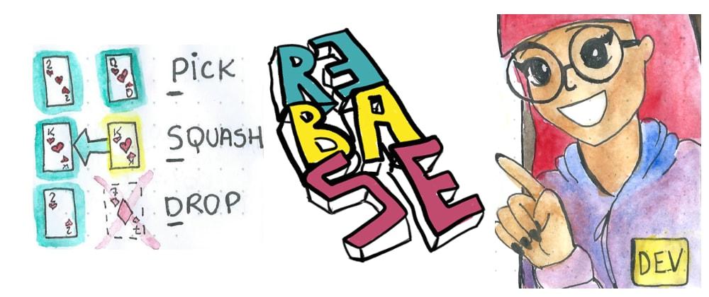 Cover image for Pick. Squash. Drop. Rebase! (Comic)