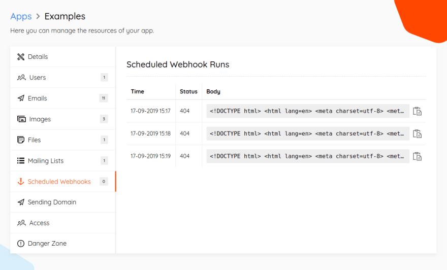 Scheduled Webhook Runs