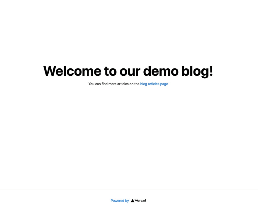 Next.hs home page running on the local development server