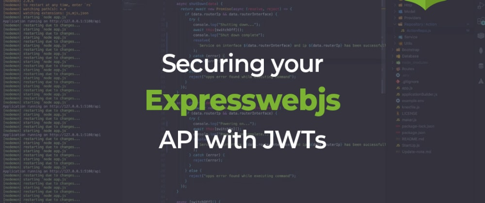 Cover image for JWT authentication in Expresswebjs