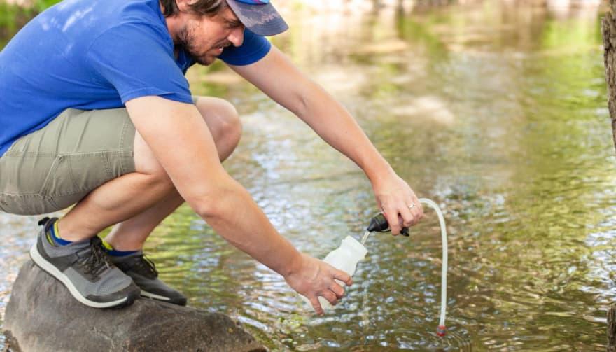 Filtering stream water