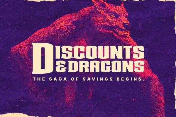 Discounts & Dragons sale!