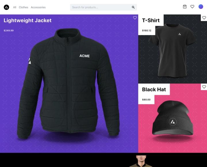 Sampel of e-commerce site