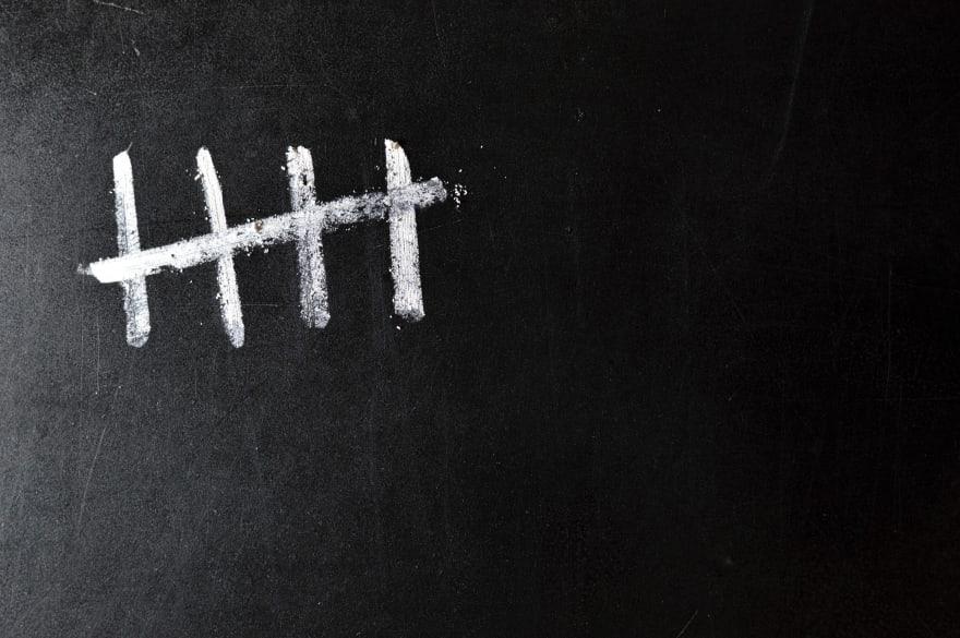 Five chalk strikes
