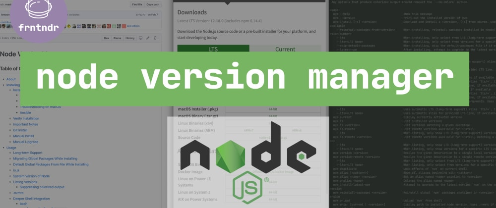 Cover image for [screencast] What is nvm (node version manager)? How to use it?