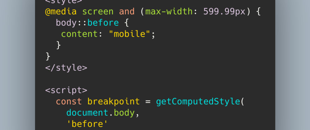 """Cover image for The Breakpoint CSS-JS """"Hack"""" - do not define breakpoints in JS"""