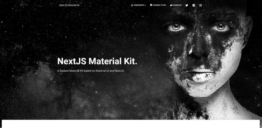 Next JS Theme - Material Kit.